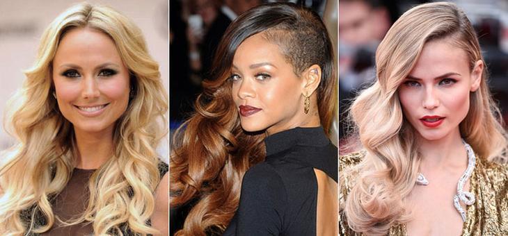 Голливудские волны для вечерней прически на средние волосы