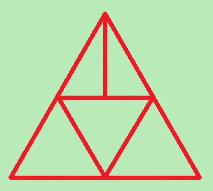 Сколько треугольников вы здесь видите?