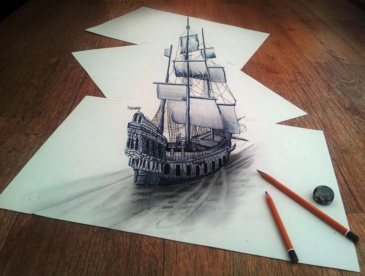 3Ddrawings07 Самые впечатляющие карандашные 3D рисунки от художников со всего света