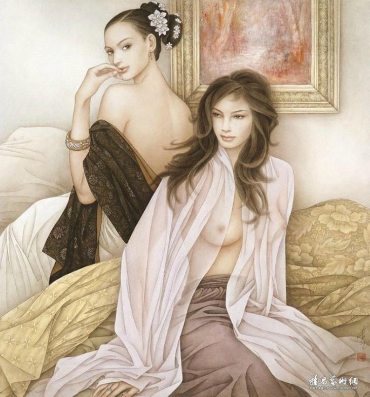 Женские образы. Китайский художник Фэн-Чан