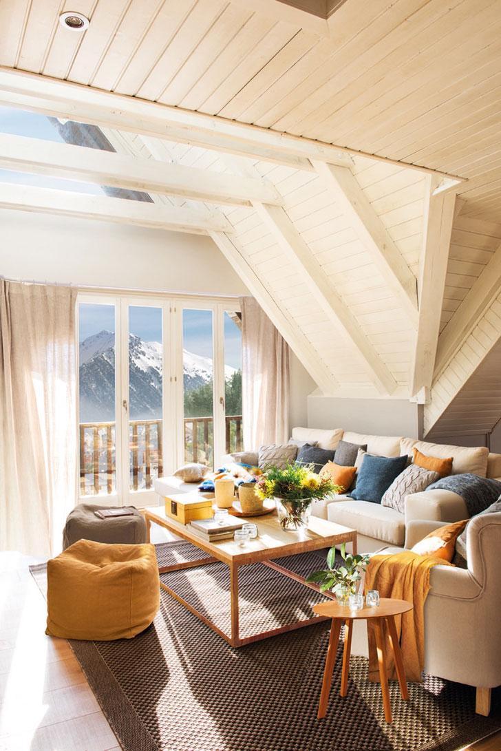 Небольшой дом со светлыми интерьерами в Пиренеях