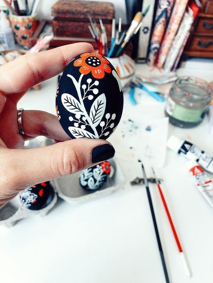 Пасхальные яйца фольклорные мотивы от художницы из Узбекистана Динары Мирталиповой, фото № 7