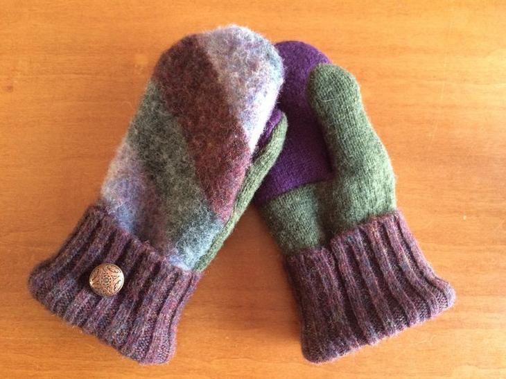 варежки из свитера своими