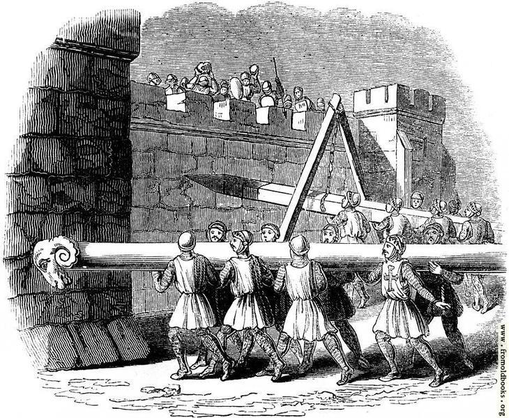Сокол (ударение на второй слог) – стенобитное орудие древности, по-другому – таран. © From Old Books