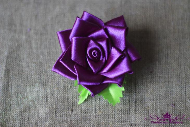 Розы из лент27