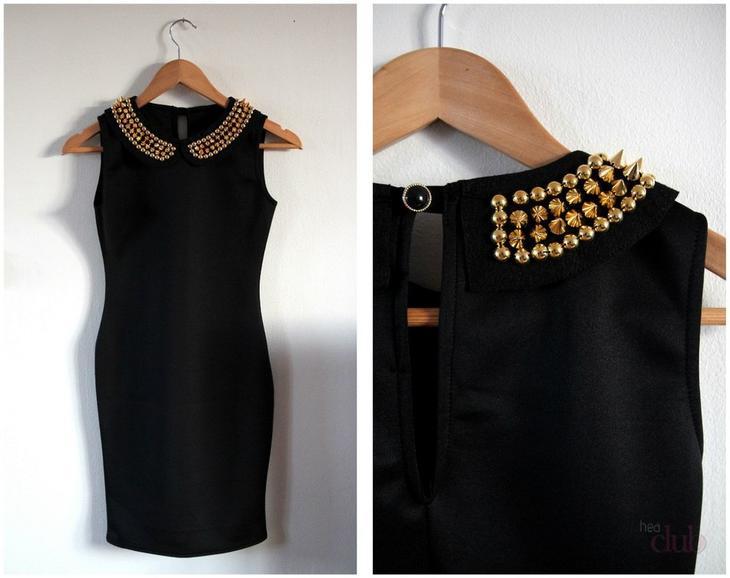 Декорирования черного платья