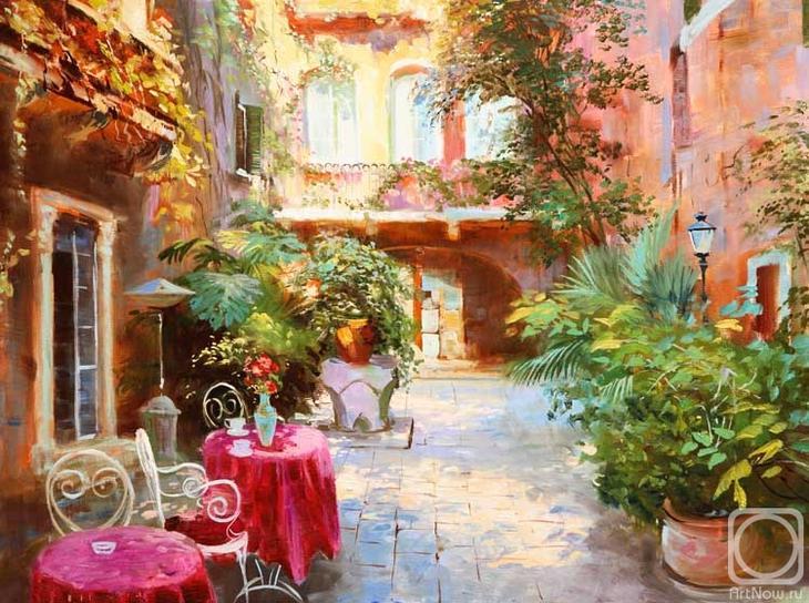 Картина маслом на холсте. Комаров Николай. Венецианский полдень