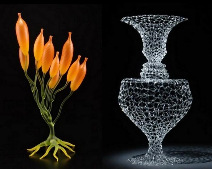 Невероятные скульптуры Роберта Микелсена из стекла