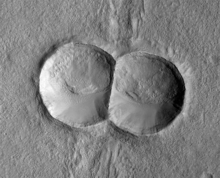 фото большой кратер у молодой фото