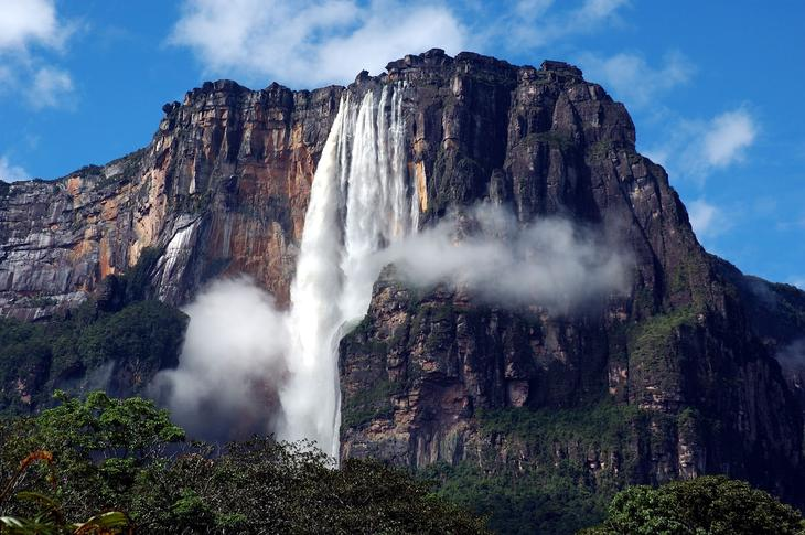 водопад ангела фото