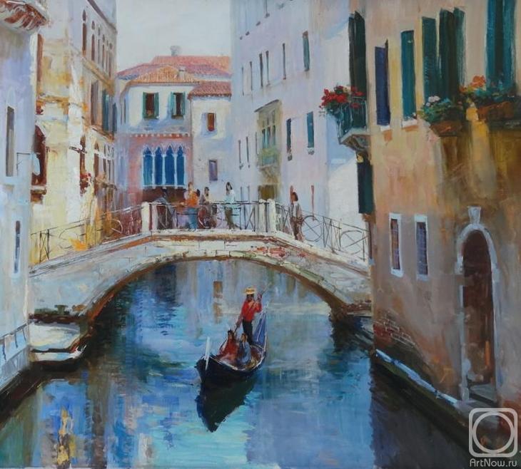 Картина маслом на холсте. Комаров Николай. Венеция