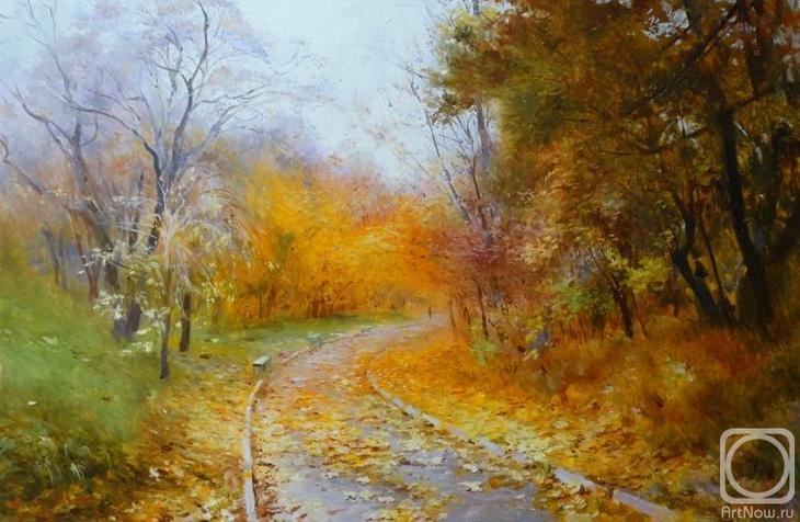 Картина маслом на холсте. Комаров Николай. Парголово.Осень