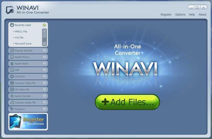 Рис. 5. Приложение для форматирования видео All-In-One Converter.