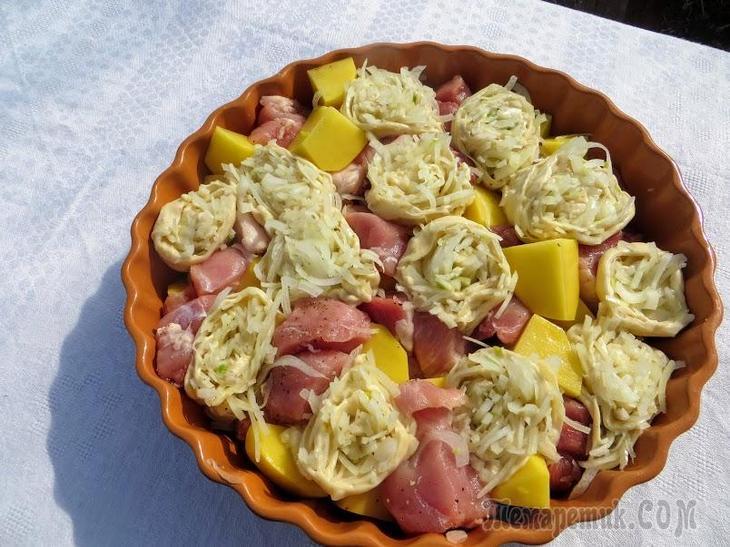 Рецепт выручалочка! Накормил всю семью - мясо в розах!