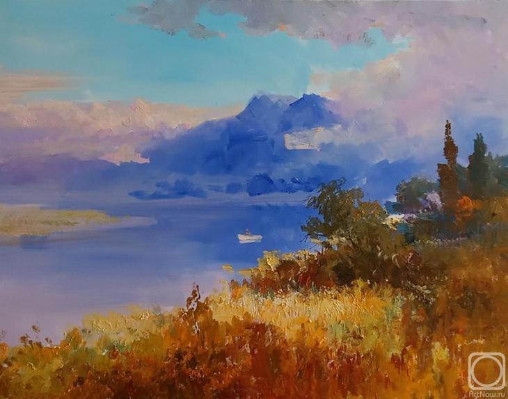 Картина маслом на холсте. Комаров Николай. Залив