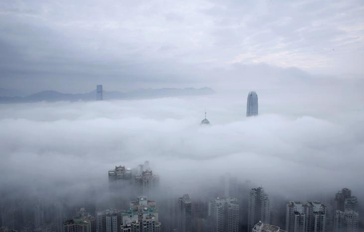 Облака в Гонконге