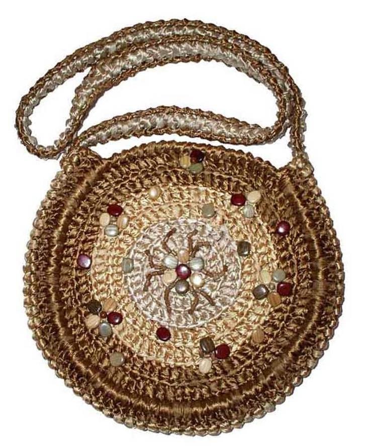 Симпатичная круглая сумочка