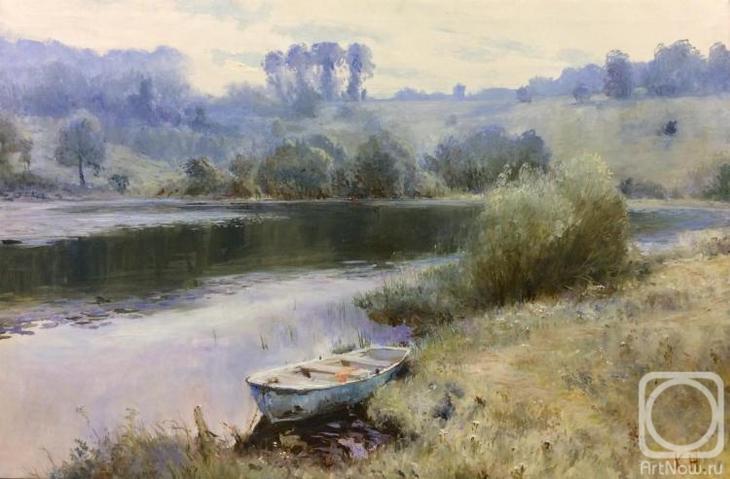 Картина маслом на холсте. Комаров Николай. Валдай