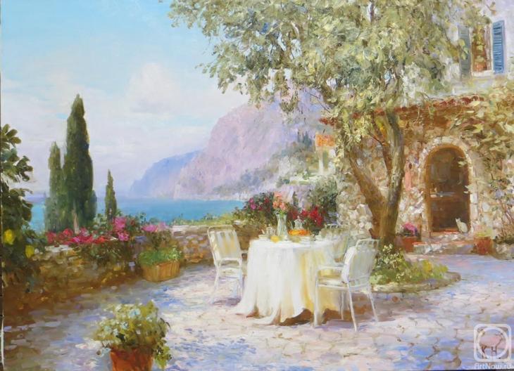 Картина маслом на холсте. Комаров Николай. Сиеста