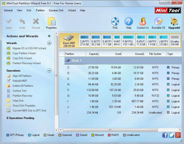 Увеличить объем диска на планшете