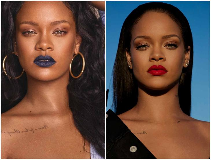 Тренды макияжа 2018 года, популярная и звездная косметика од Рианны
