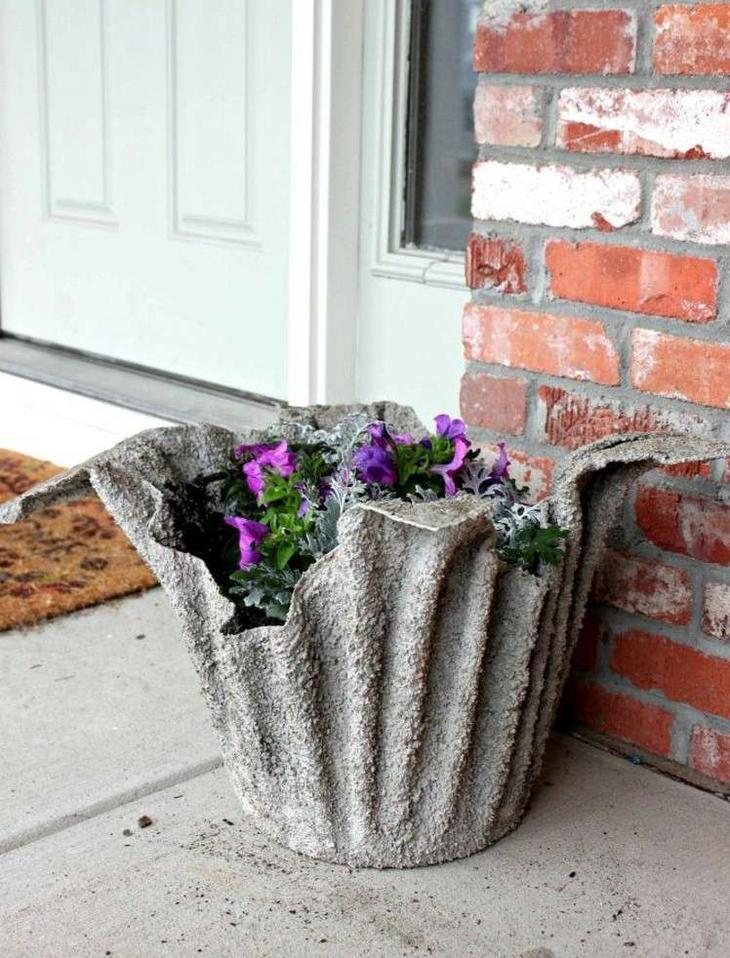 как сделать фигуры для сада своими руками фото мастер класс цветочный горшок бетон