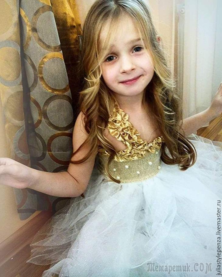 Платье «Снежинка» без швейной машинки за 1 день