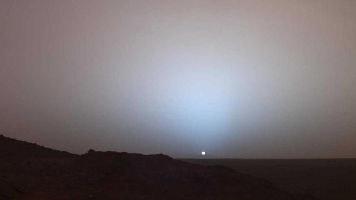 Закат на Марсе. Снимок марсохода Spirit / ©NASA