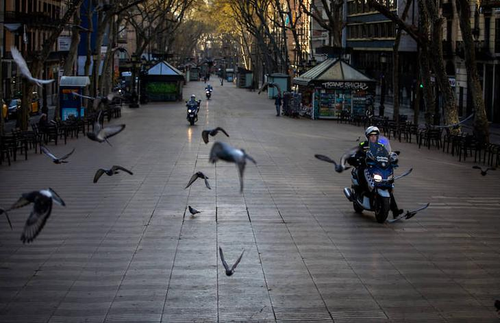 Улица Рамблас. Барселона, Испания