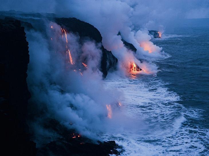 Кипящий океан, Гавайи