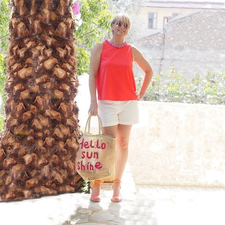 летние шорты с блузкой без рукавов фото 11