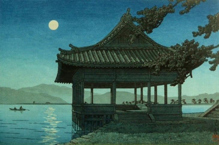 "Хасуи Кавасэ. ""Павильон Kankai на пляже Wakaura"", 1950"
