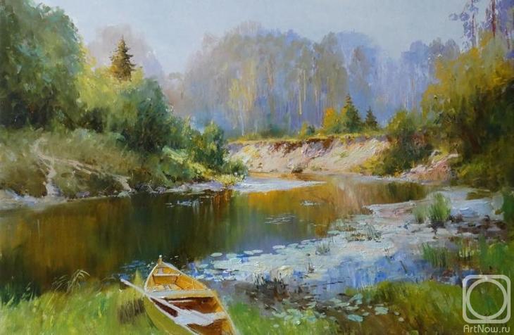 Картина маслом на холсте. Комаров Николай. Кокшага