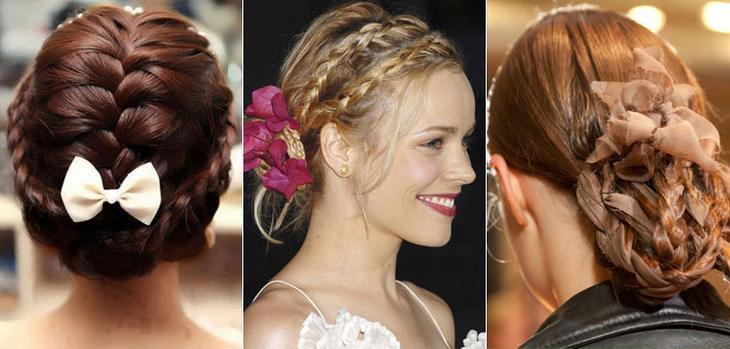 Как украсить косички украшениями для волос
