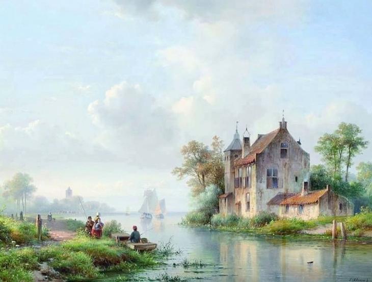 художник Лодевейк Йоханнес Клейн (Lodewijk Johannes Kleijn) картины – 01