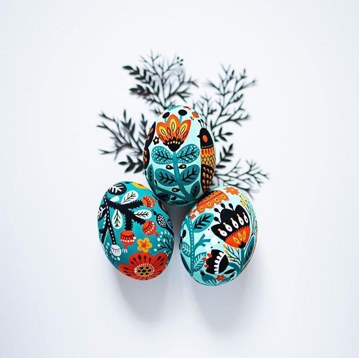 Пасхальные яйца фольклорные мотивы от художницы из Узбекистана Динары Мирталиповой, фото № 2