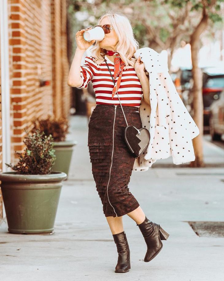 модные луки зимы 2020 для женщин 40-50 лет фото 2