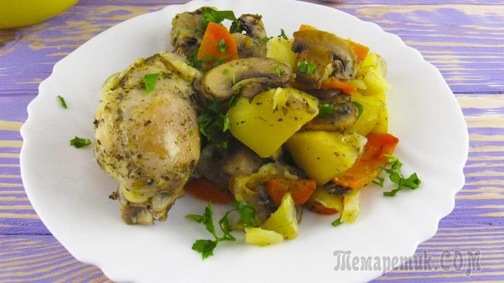 """Ужин без возни """"Хозяйка отдыхает"""" - мясо с картофелем и грибами в рукаве!"""