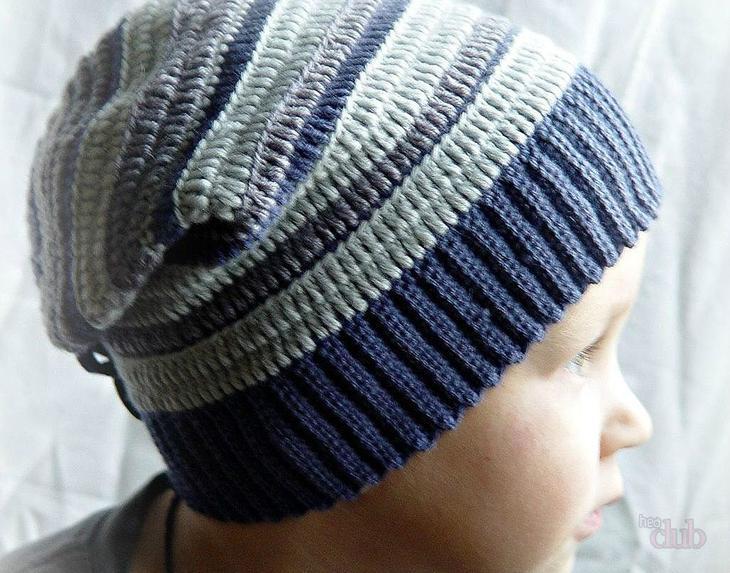 fullsize Шапка вязаная для мальчика крючком на весну, осень, зиму: схема, описание