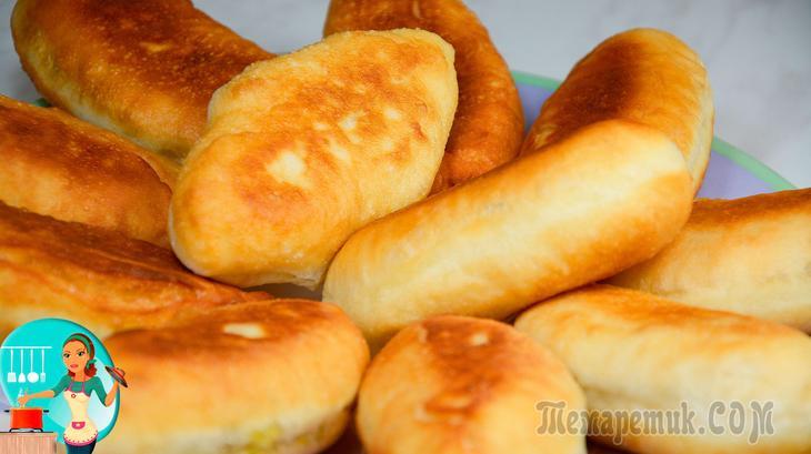 Домашние жареные пирожки с тушеной капустой - рецепт пошаговый с фото