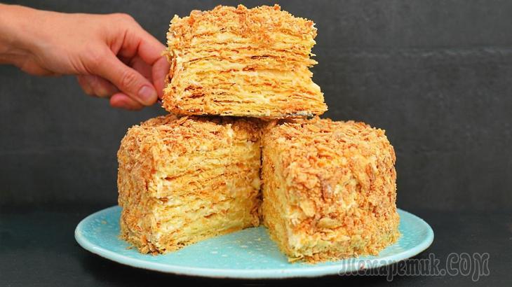 Просто идеальный торт Наполеон получается по этому рецепту! Очень вкусный крем и слоистые коржи!