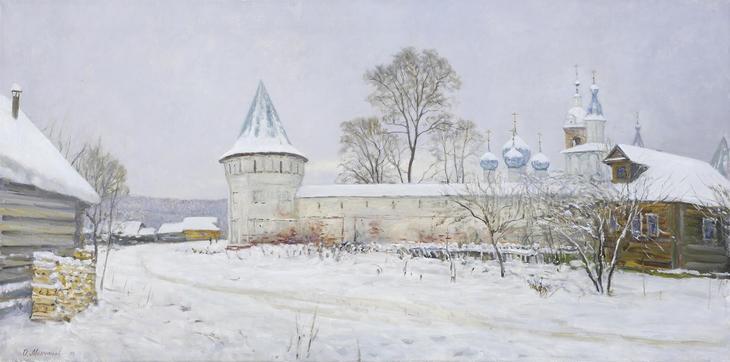 «Тихая молитва, русская душа» х.м. 60х120 2018 г.