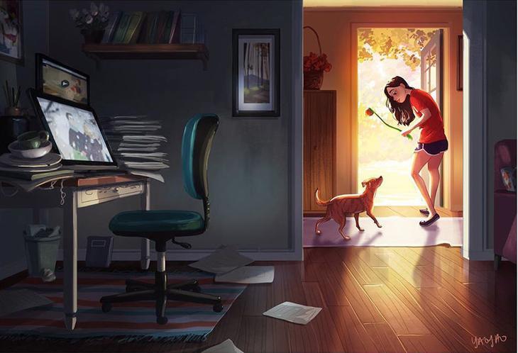 Дома — идеально! Художница показала, как ей живется на «удаленке», фото № 4
