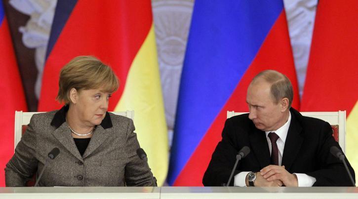 Путин вместо Меркель, такого Берлин еще не видел