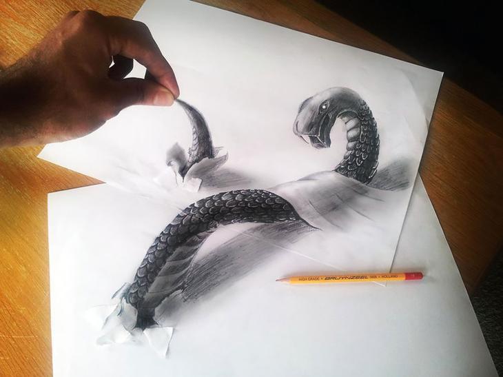 3Ddrawings03 Самые впечатляющие карандашные 3D рисунки от художников со всего света