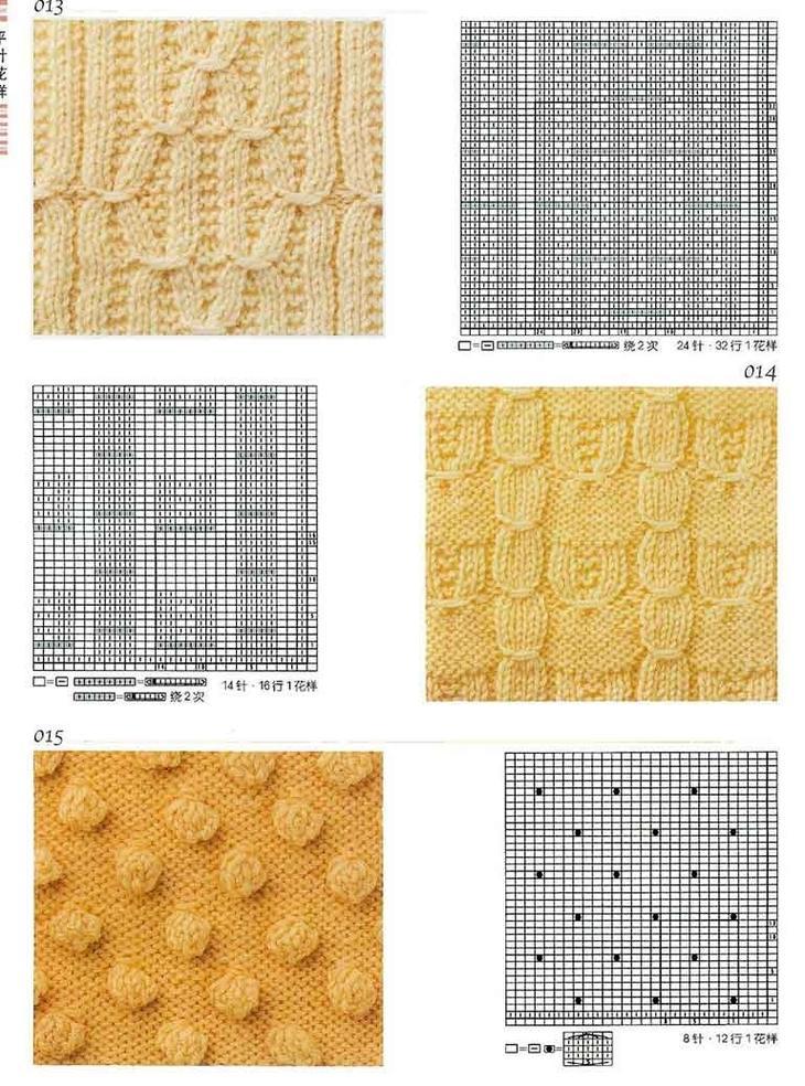 Схемы узоров для вязания женских жилетов спицами, пример 5