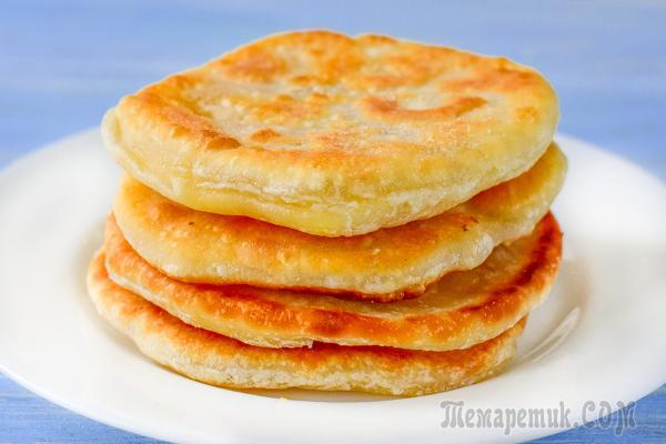 Лепешки с сыром на сковороде