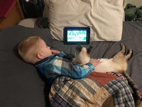 19 очаровательных фотографий, доказывающих, что дети не могут жить без домашних животных