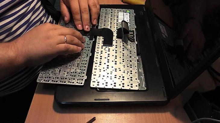 Не работает часть клавиатуры на ноутбуке