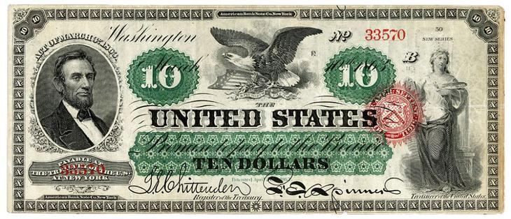 дизайн американских банкнот 5